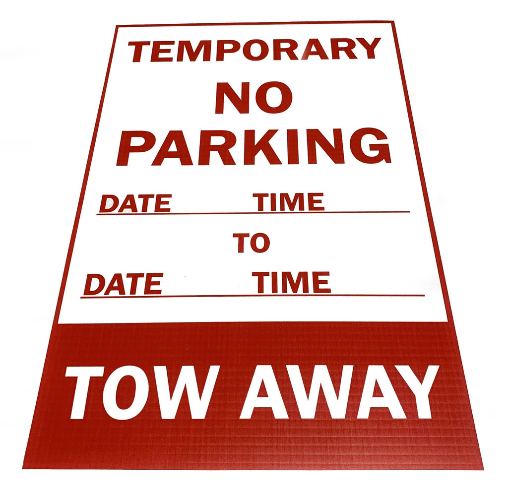 Temporary No Parking Sign 3mm 12″x18″ Coroplast - BC Retail Supplies
