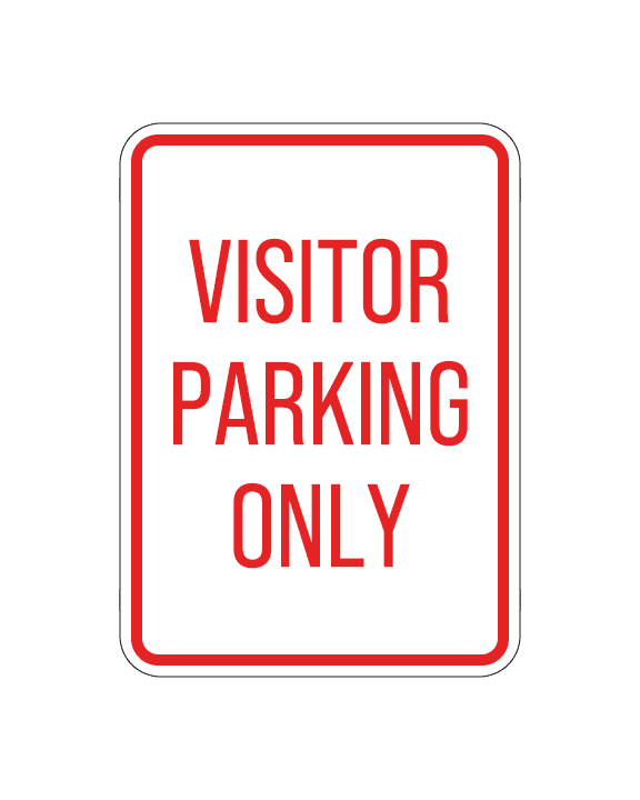 "Visitor Parking Only Sign Aluminum Composite 12""x18""x 3mm - BC Retail Supplies"