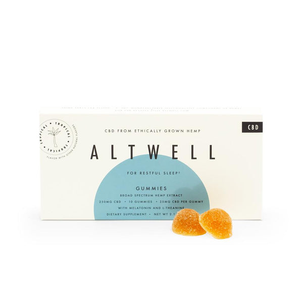 Altwell Sleep Gummies (Tropical) 250mg | 10 count - DirectHemp.com