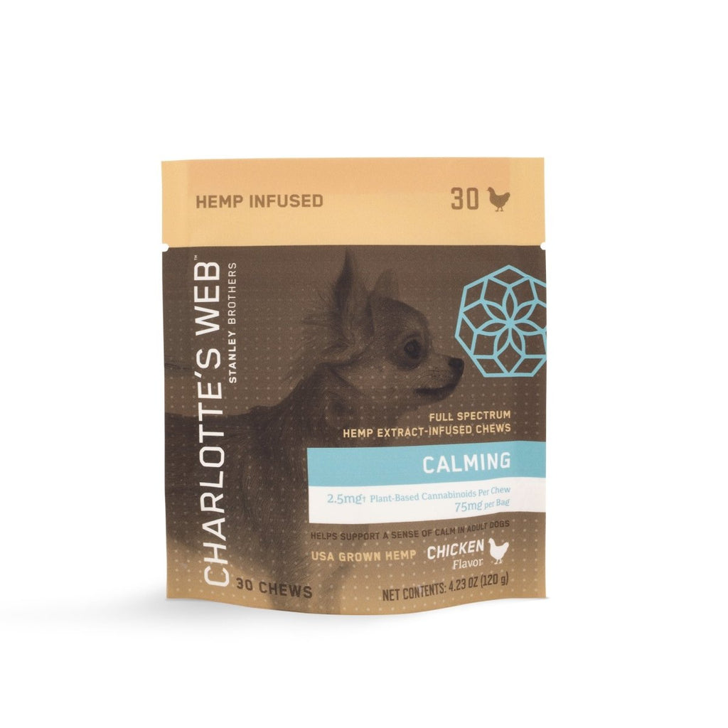Charlotte's Web 75mg Calming Pet Chews - DirectHemp.com