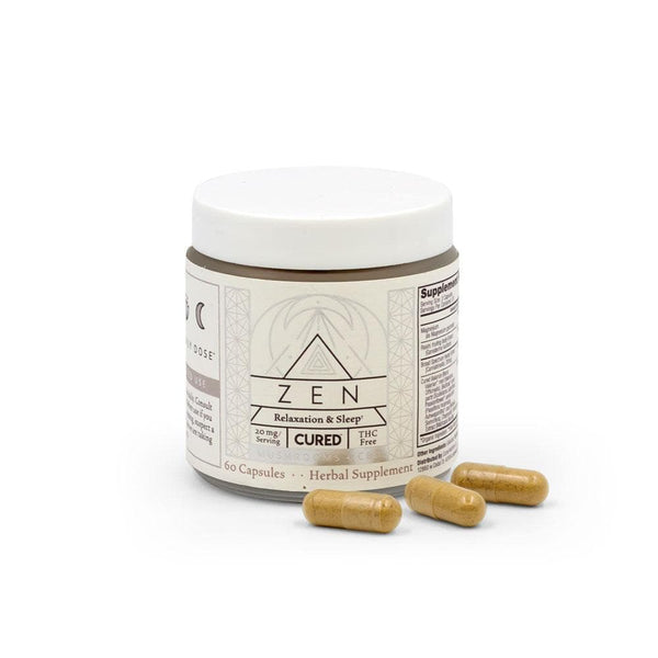 Cured Nutrition 400mg Zen Capsules - DirectHemp.com