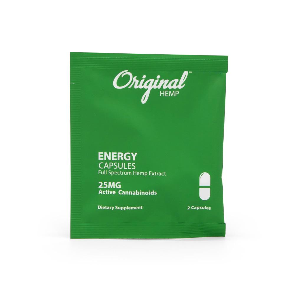 Original Hemp 25mg Daily Dose Energy Capsules - DirectHemp.com