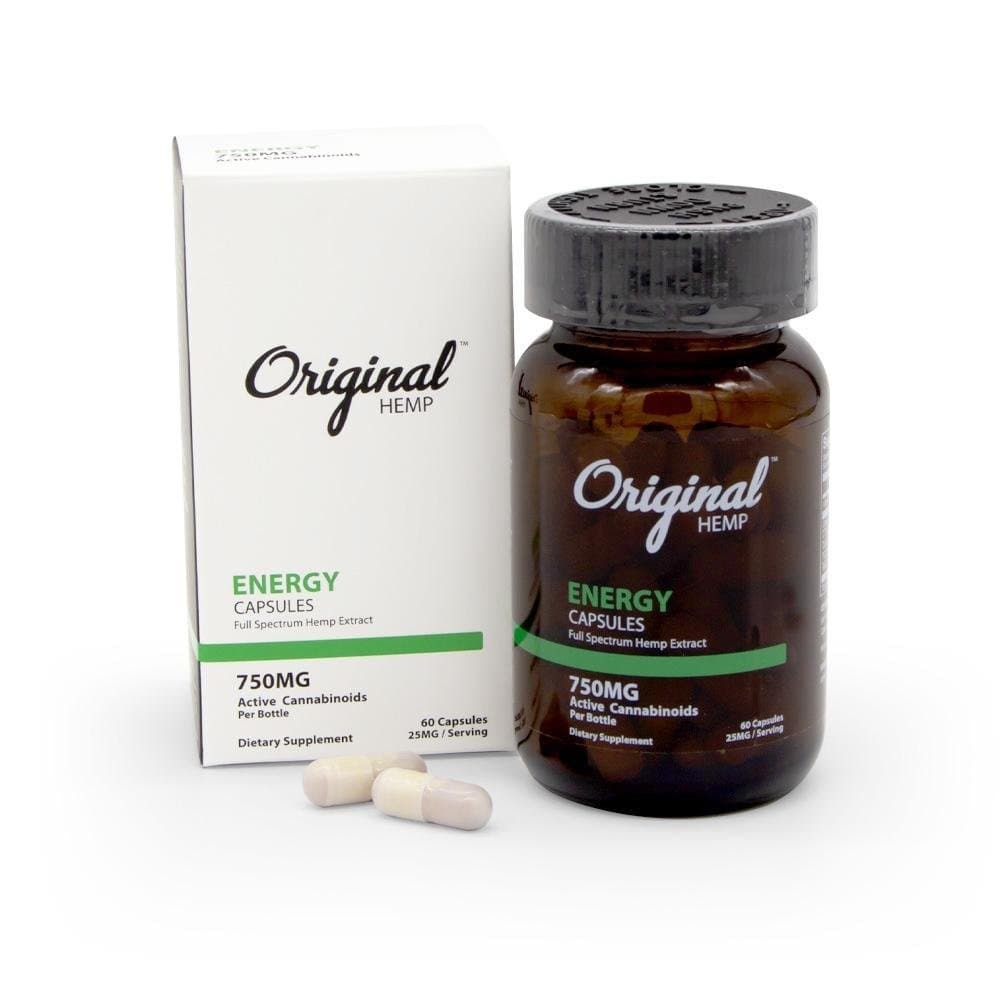 Original Hemp 750mg Energy Capsules - DirectHemp.com