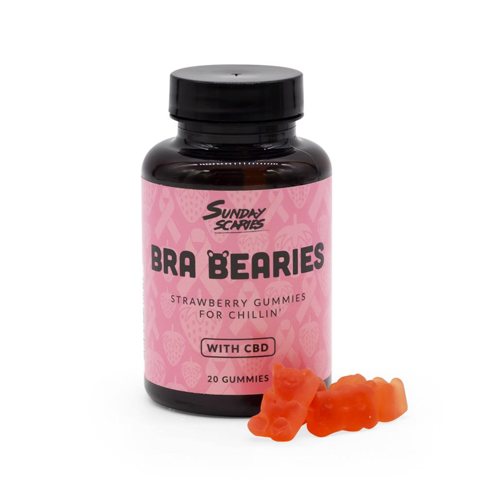 Sunday Scaries 200mg Bra Bearies CBD Strawberry Gummies - DirectHemp.com