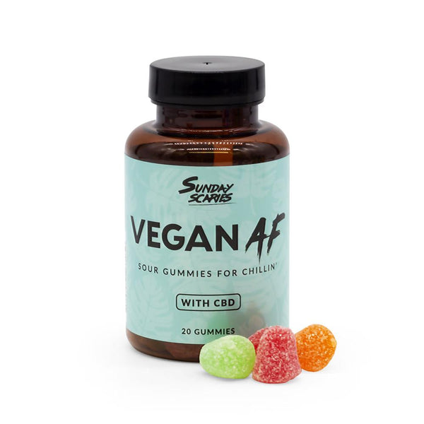 Sunday Scaries 200mg Vegan Sour CBD Gummies - DirectHemp.com