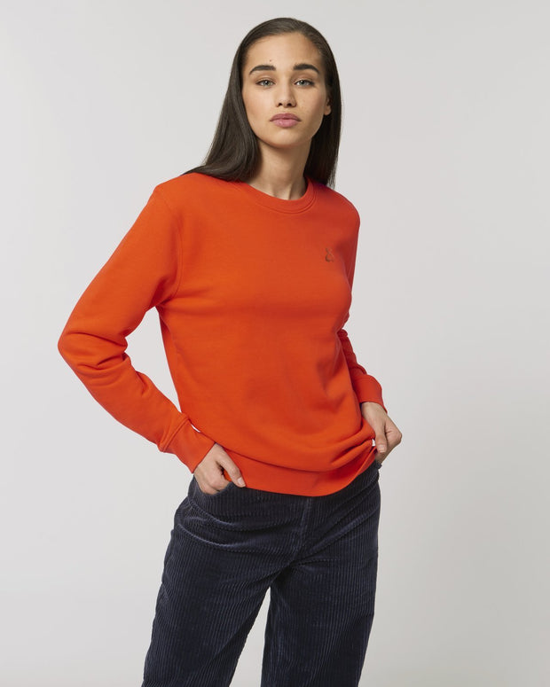 Clean & Chic - Iconic Rundhals-Sweatshirt in Juicy Orange - Juniper & Moon