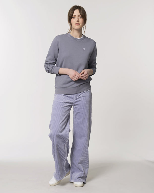 Clean & Chic - Iconic Rundhals-Sweatshirt in Lavender Fields - Juniper & Moon