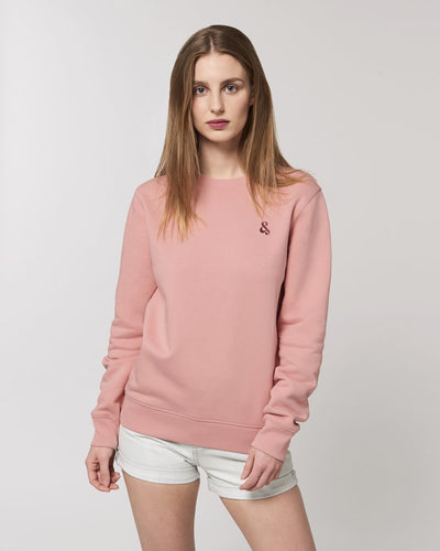 Clean & Chic - Iconic Rundhals-Sweatshirt in Peach Blossom - Juniper & Moon