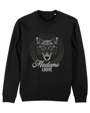 MADAME LOUVE (Black) - Iconic Rundhals-Sweatshirt - Juniper & Moon