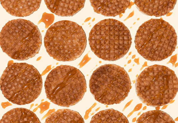 Stroopwafels with caramel drizzle