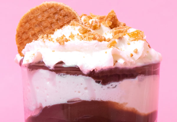 Parfait with stroopwafel topping