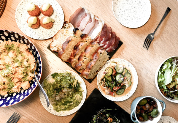 Kosher meal with a variety of dishes