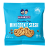 A Chocolate Chip Mini Cookie Stash pack produced by Belgian Boys, wt. 1oz (28g)