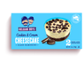 A box of 2 Cookies & Cream Cheesecakes in glass ramekins produced by Belgian Boys