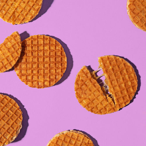 Mini Dutch Stroopwafels with irresistable caramel filling