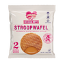 A pack of two authentic Dutch caramel Stroopwafels produced by Belgian Boys