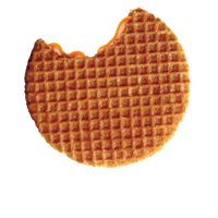 A single indulgent authentic Dutch Caramel Stroopwafel