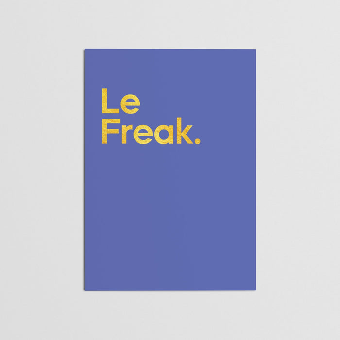 """Le Freak - Chic"" - Card (single)"