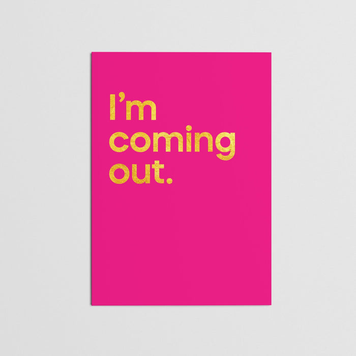 """I'm Coming Out - Diana Ross"" - Card (single)"