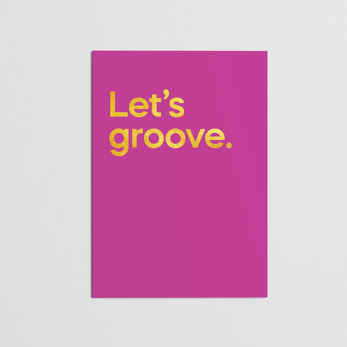 """Let's Groove - Earth, Wind and Fire"" - Card (single)"