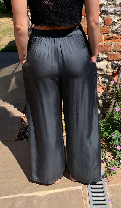 Sarta Floaty Charcoal Grey Trousers