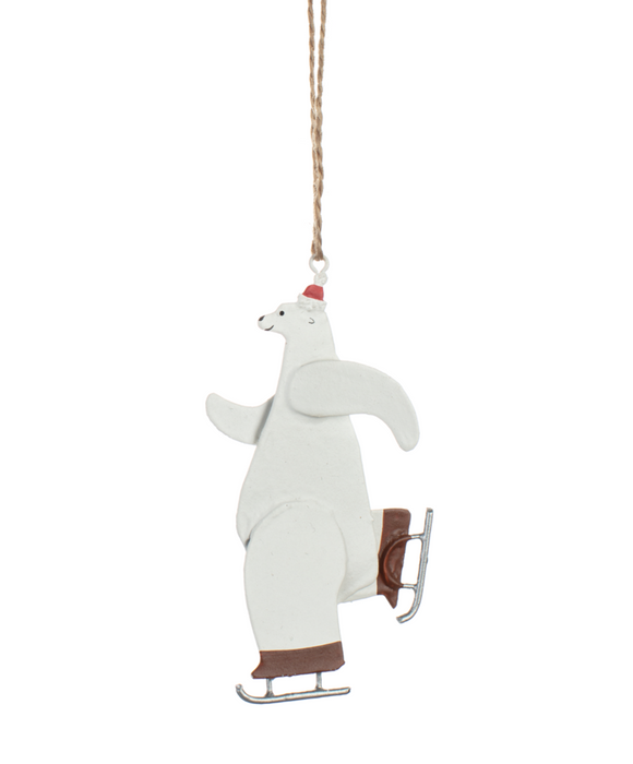 'Skating Polar Bear' Christmas Tree Decoration