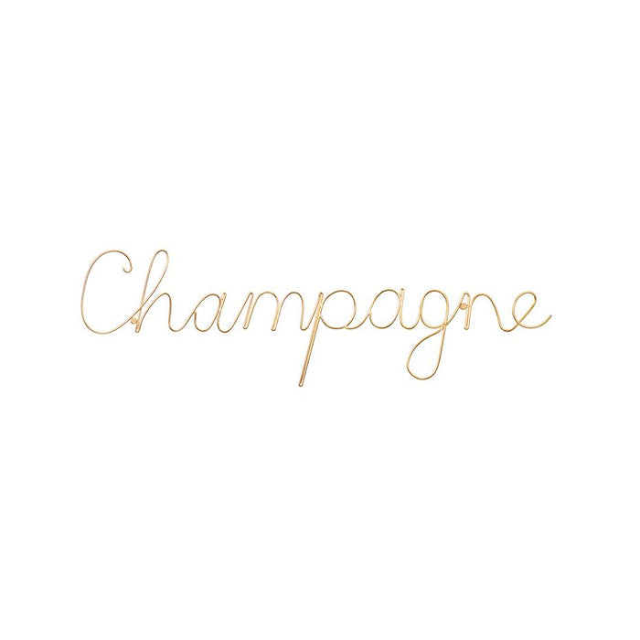 'Champagne' Wire Word Gold