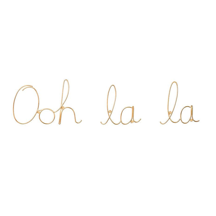'Ooh la la' Wire Word Gold
