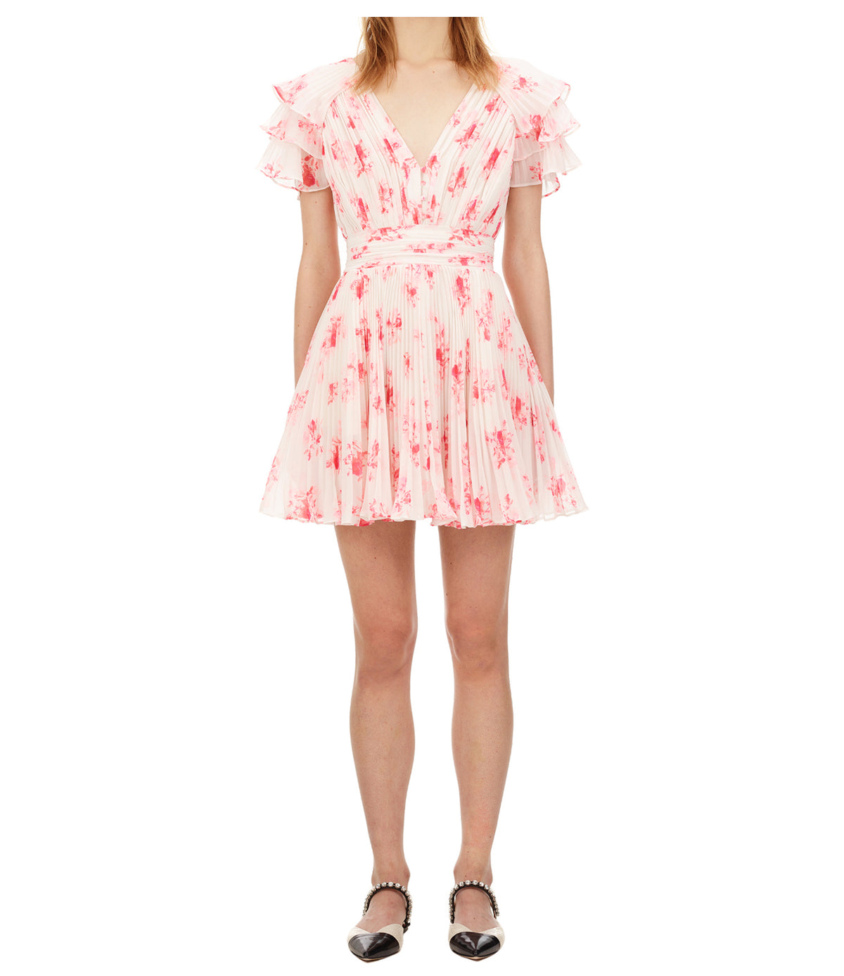 Floral Print Chiffon Mini Dress | Multi