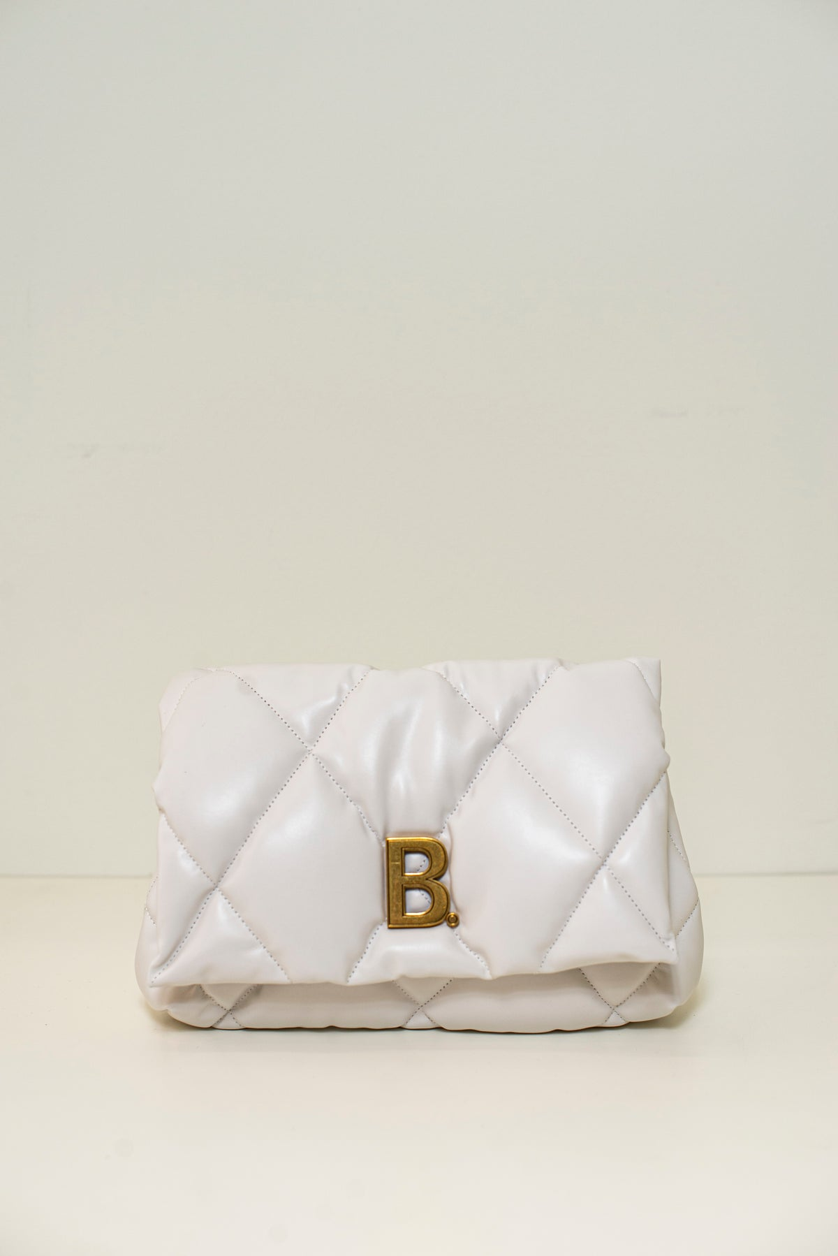 TOUCH PUFFY CLUTCH M | White