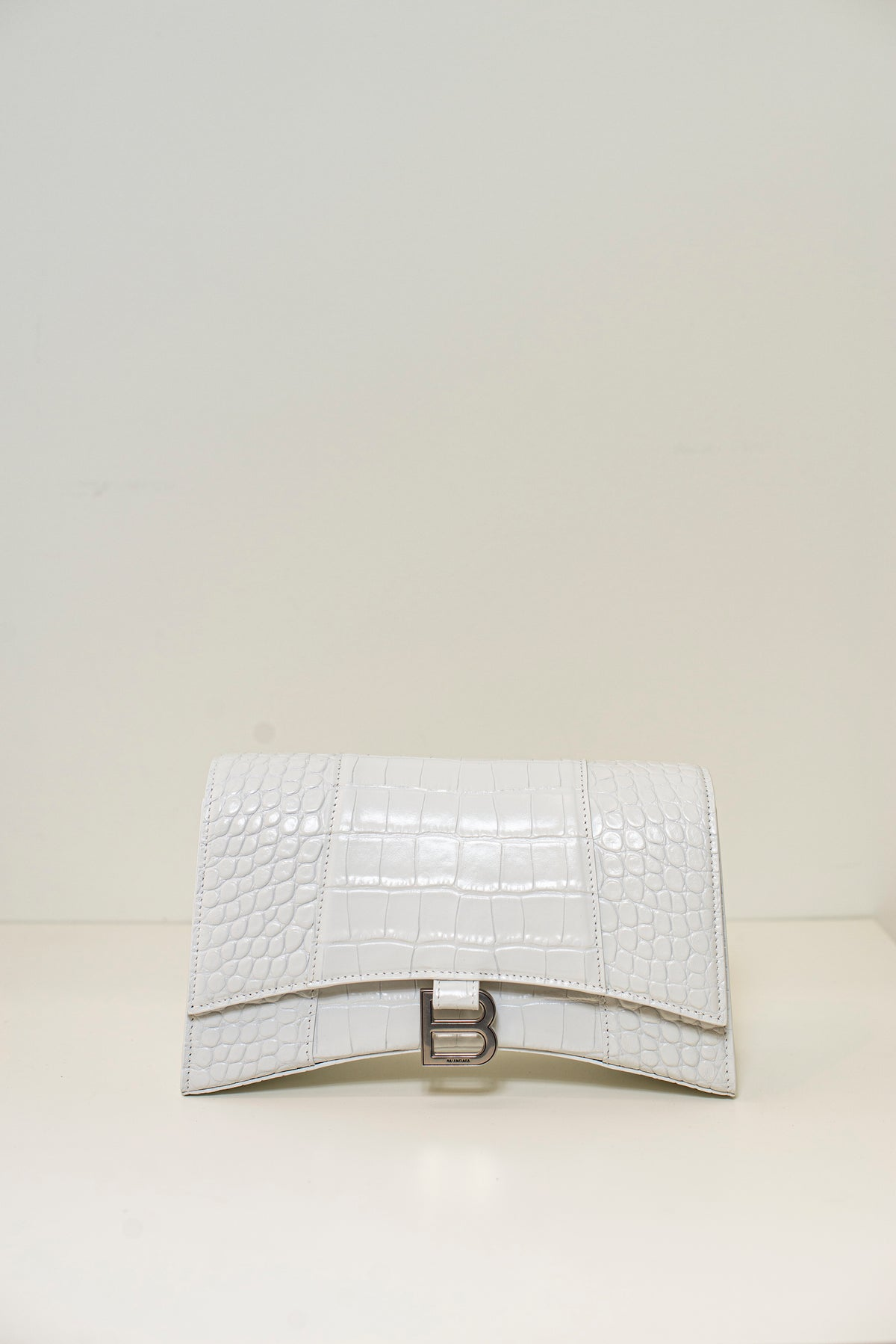 BALENCIAGA - Hourglass Sling Bag | White
