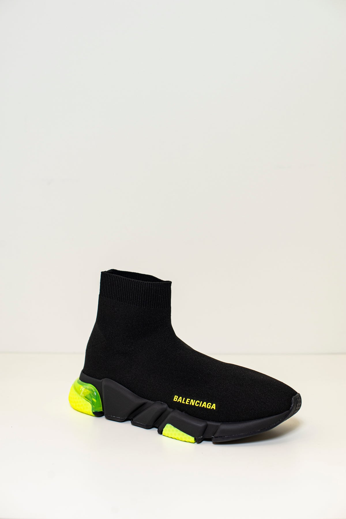 BALENCIAGA - Speed Lt Clear Sole Sneaker M | Black/Yellow Fluo