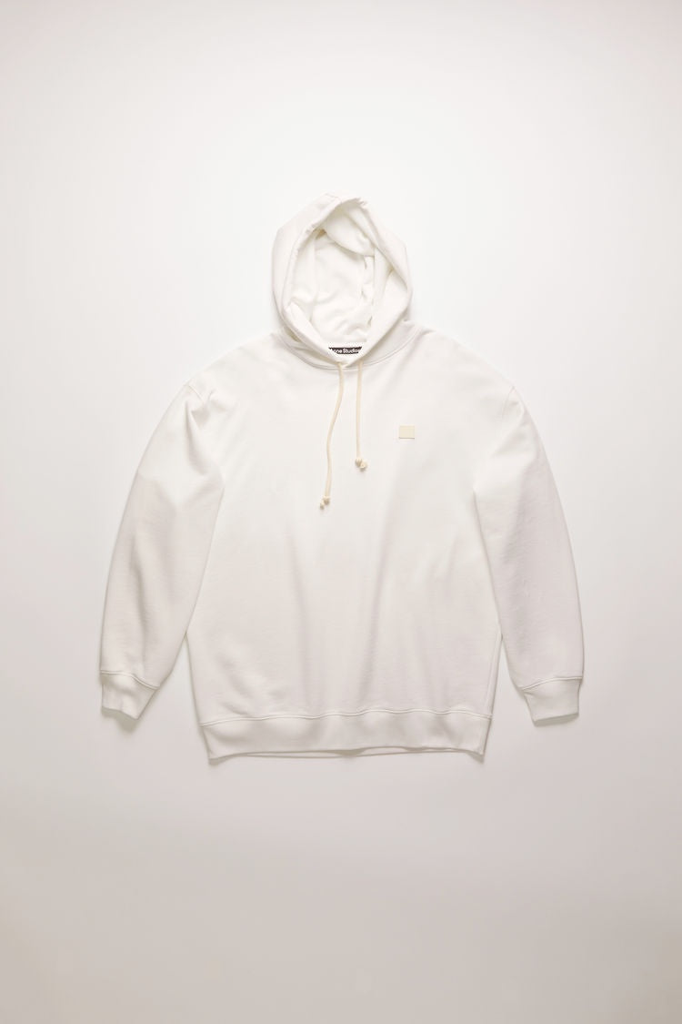 Acne Studios - Farrin Face Hooded Sweatshirt | Optic White