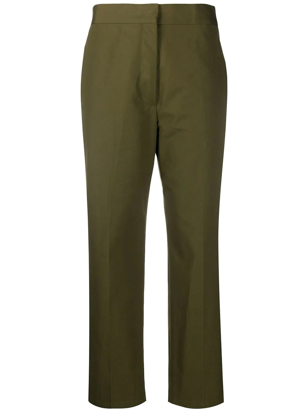 Lang Cropped Pants - Forest
