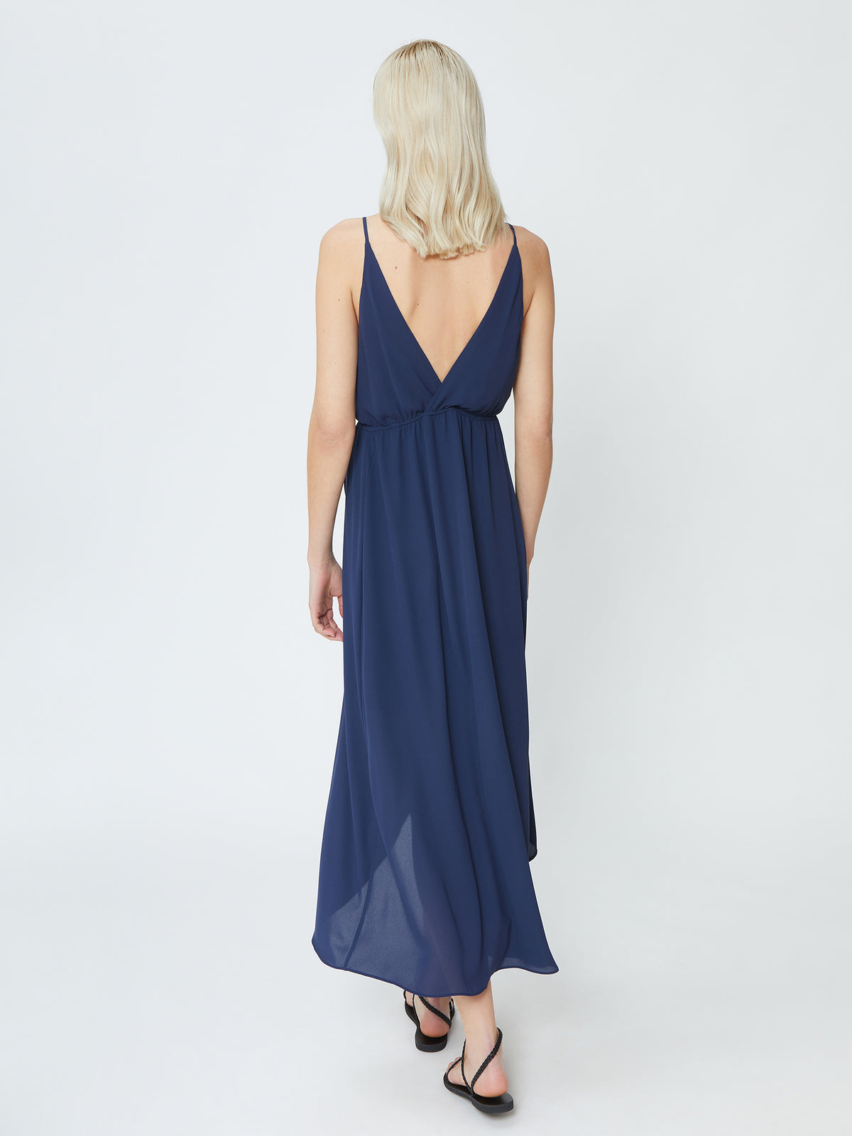 Orchid Dress - Navy