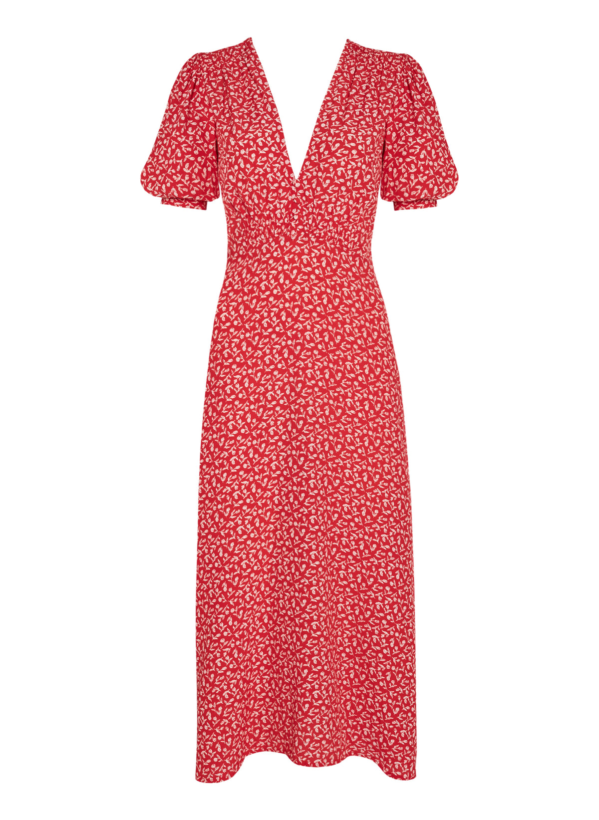 Faithfull The Brand - Sonja Midi Dress | Floral/Red