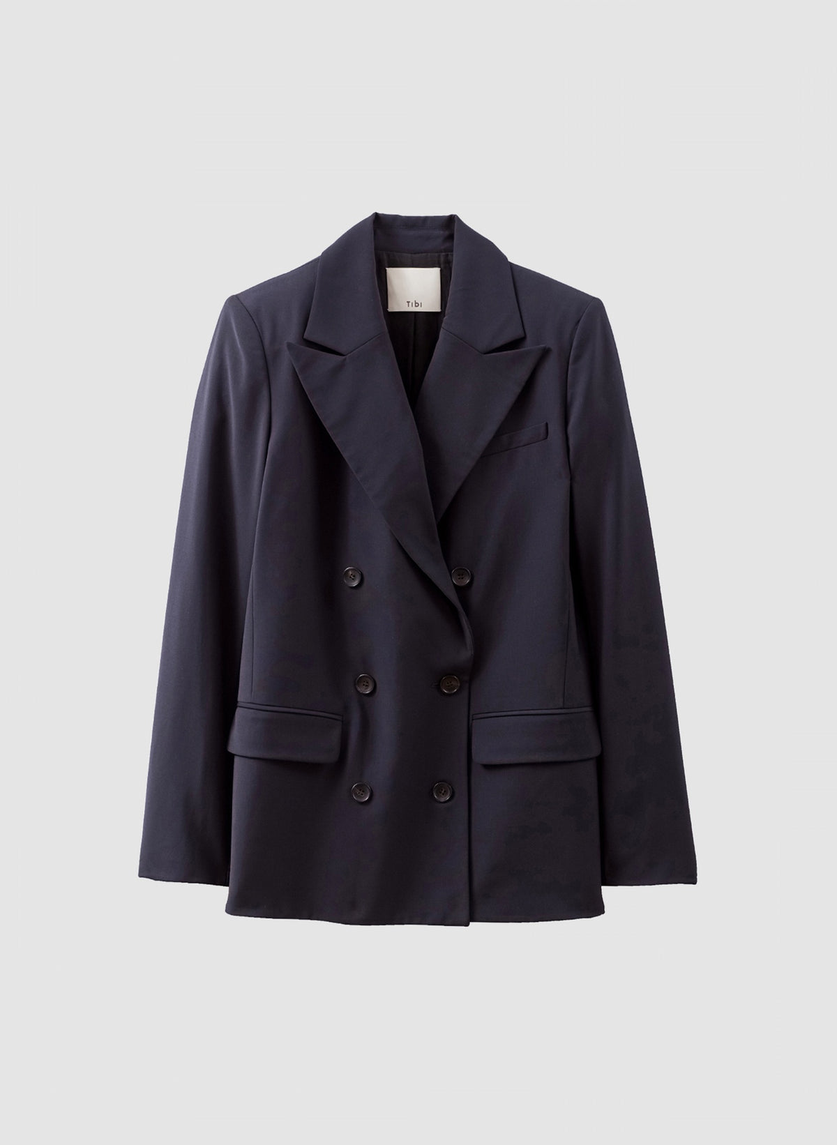 Wool Blazer Double-Breasted - Navy