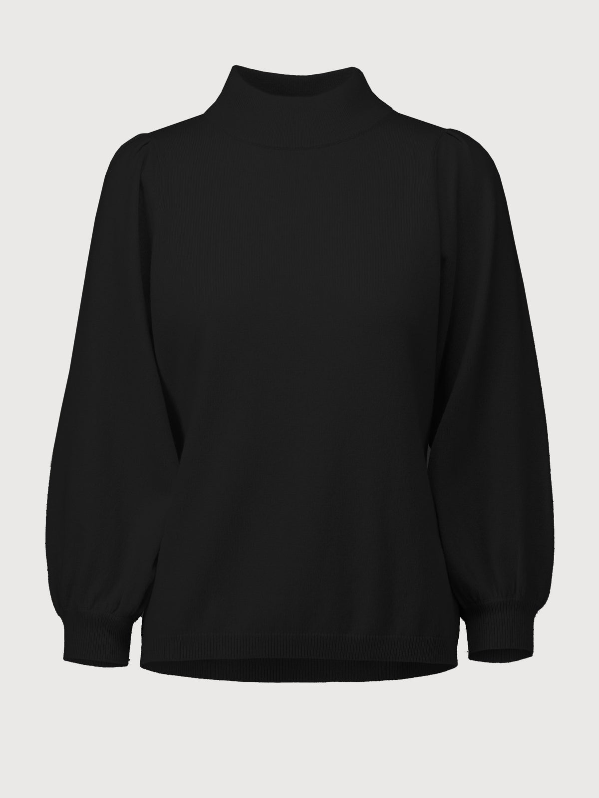 High neck Sweater | Black
