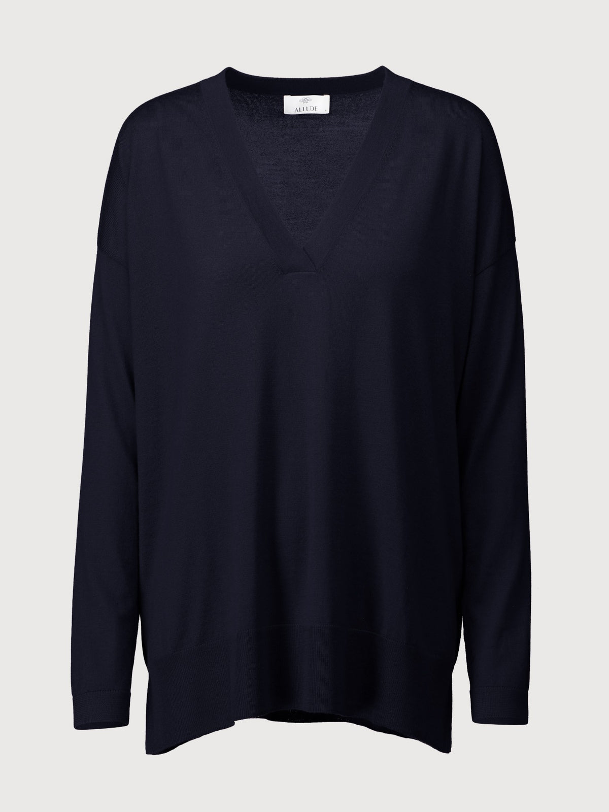 Deep V-neck Sweater | Navy
