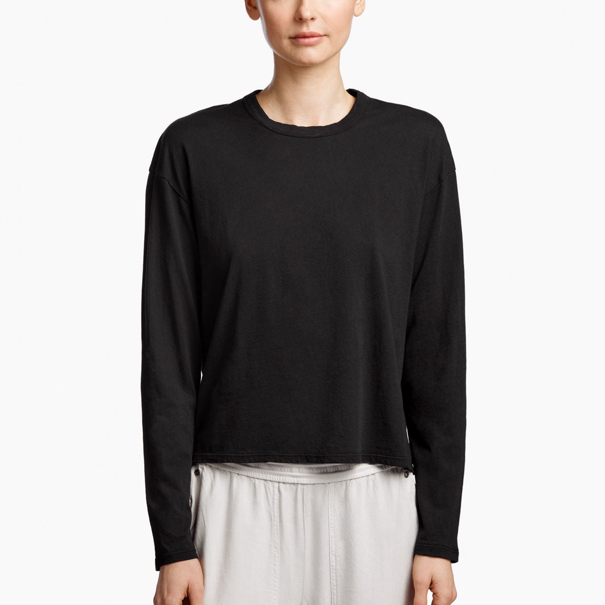 James Perse - Boxy Long Sleeve Tee - Black