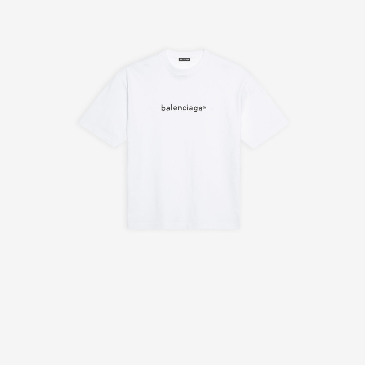 BALENCIAGA - Copyright Medium Fit T-Shirt | White/Black
