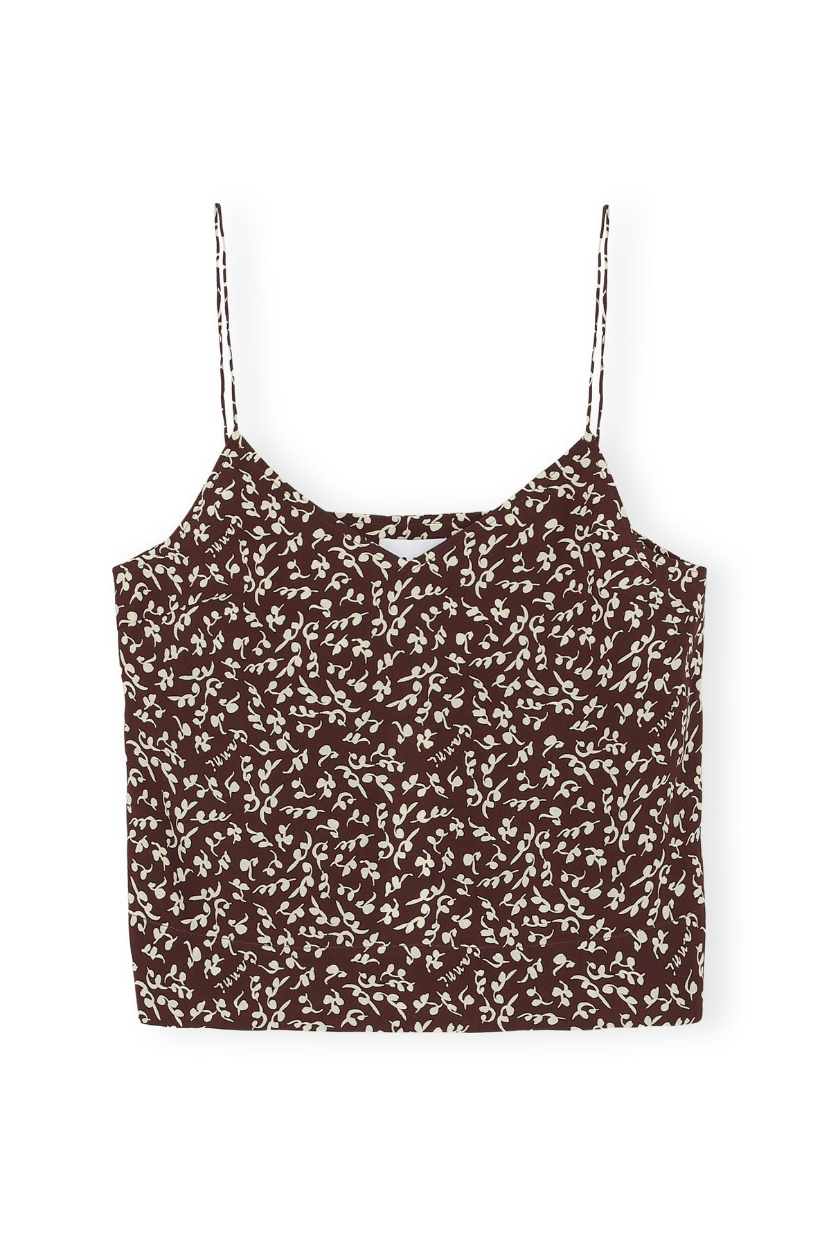 Printed Crepe Cami Top - Decadent Chocolate