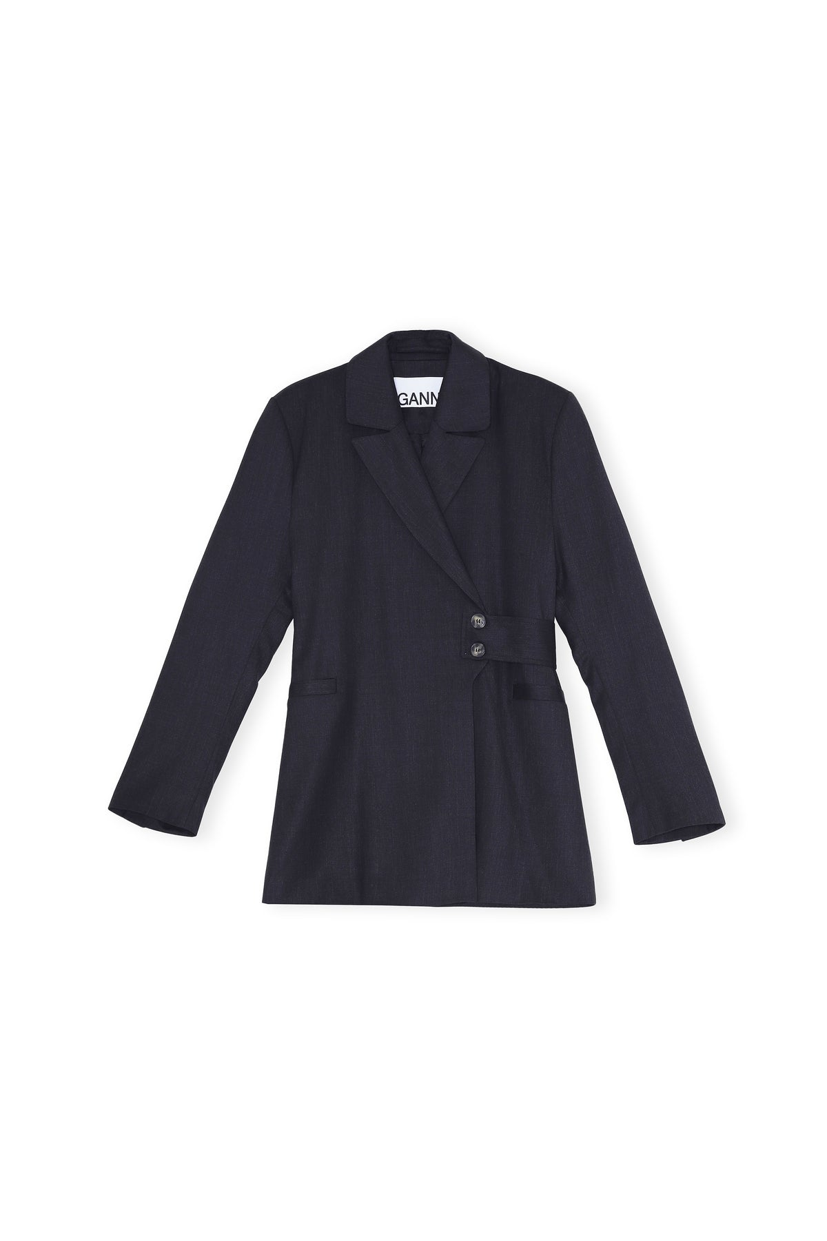 Light Wool Blazer - Phantom