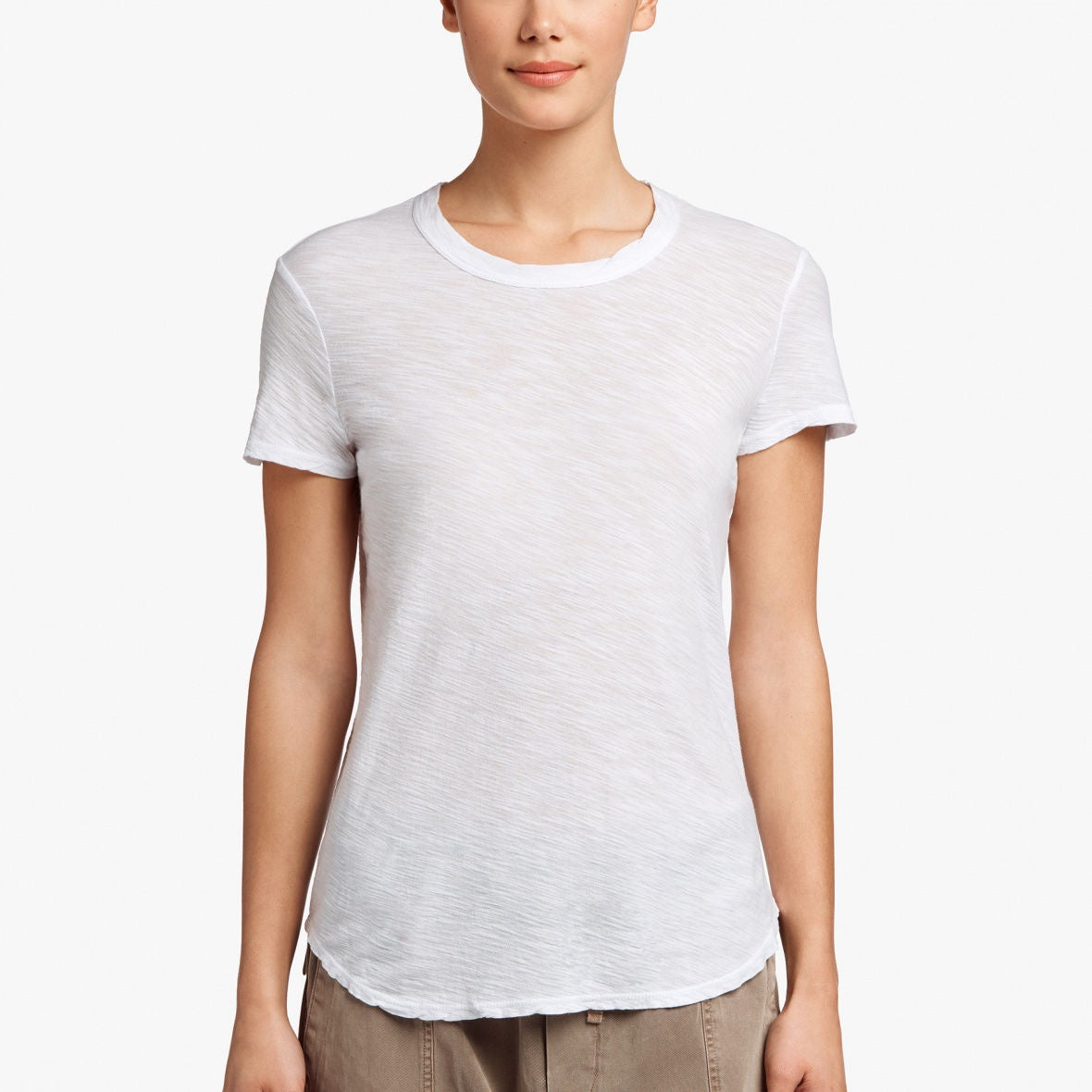 James Perse - Sheer Slub Crew Neck Tee - White