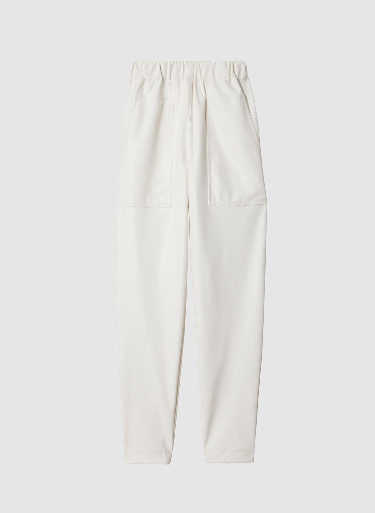 Faux-Leather Pants - White