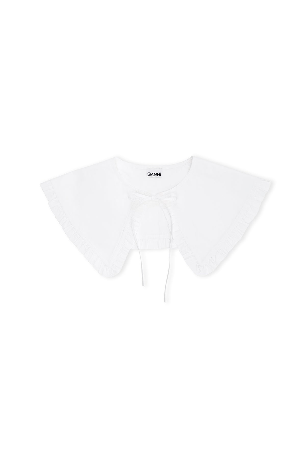 Ganni - Cotton Poplin Collar | Bright White