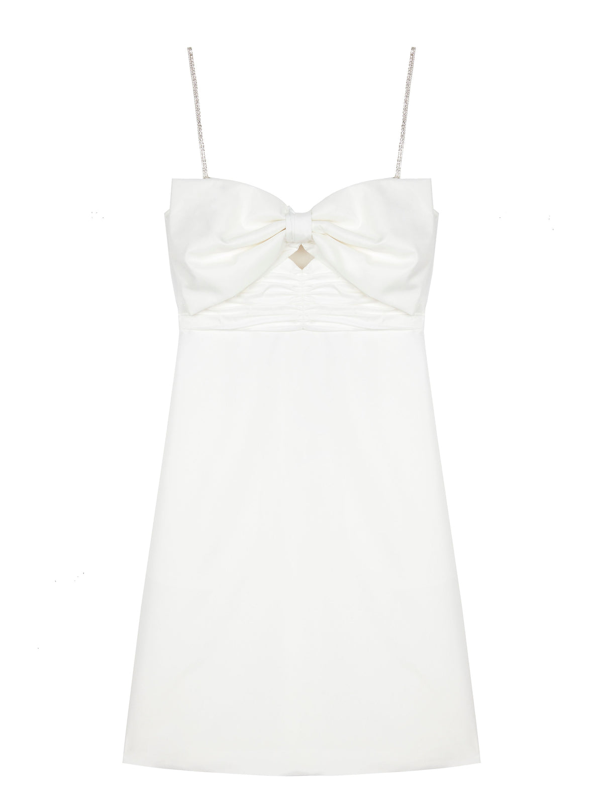 Self-Portrait - Taffeta Bow Mini Dress | White