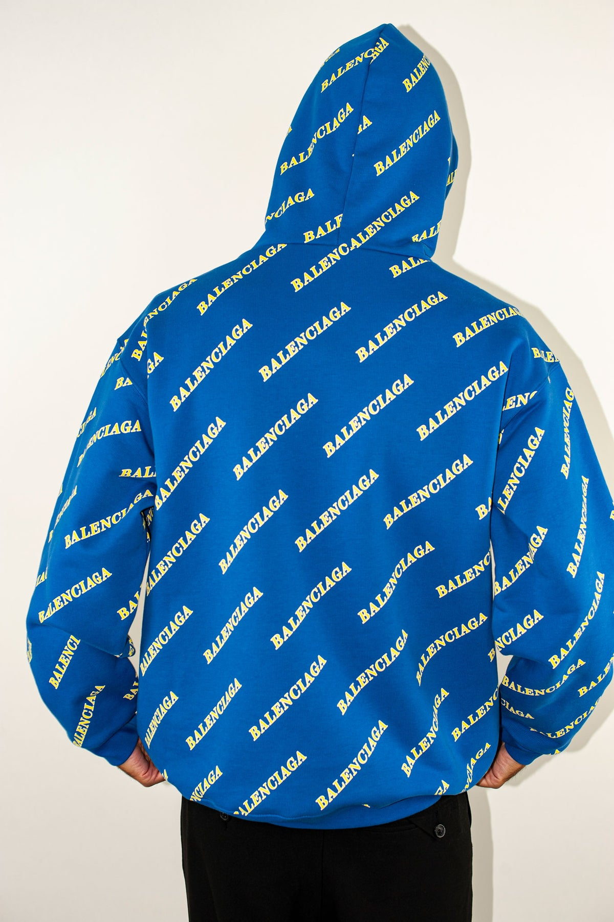 Medium Fit Hoodie M | Blue/Yellow