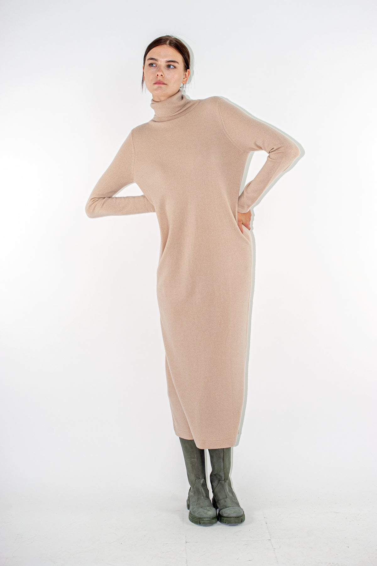 Allude - Turtleneck Dress | Crumble