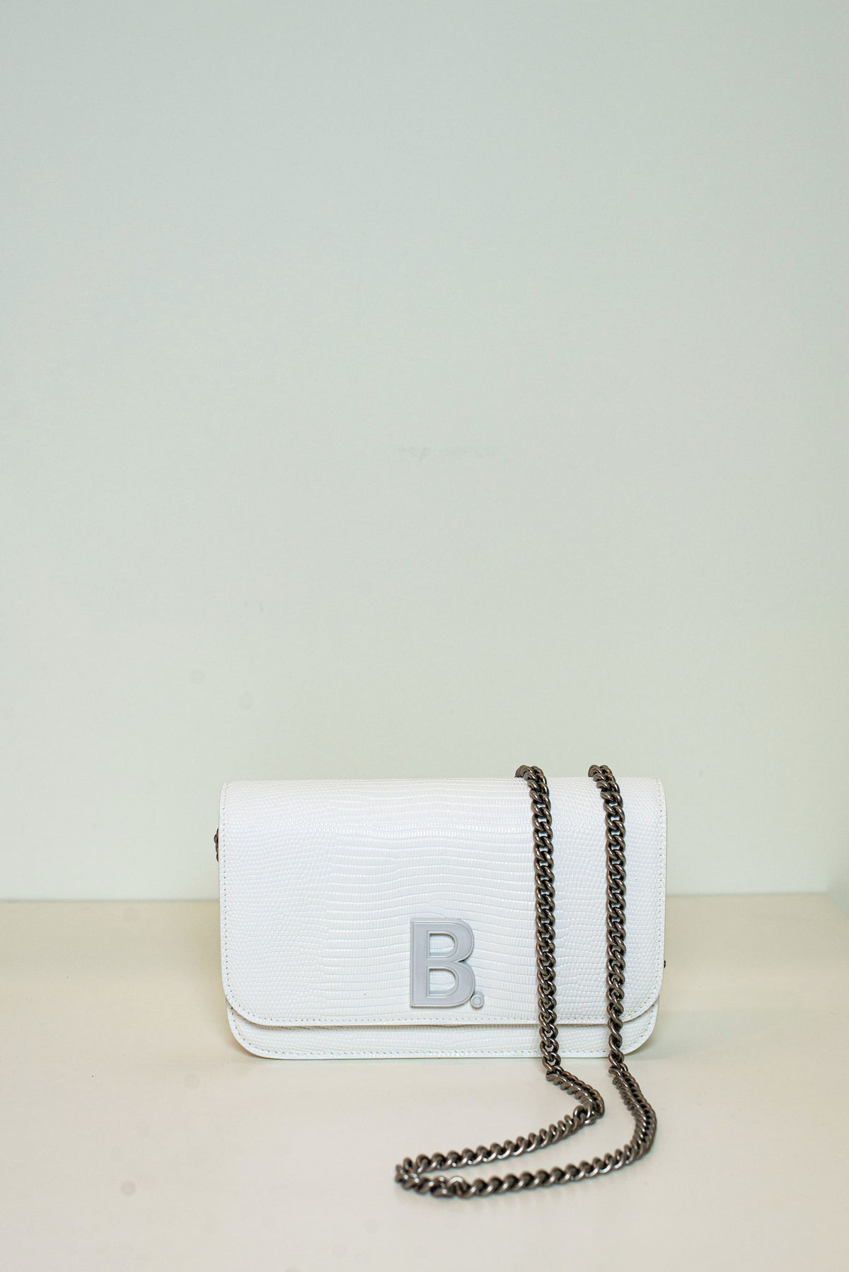 BALENCIAGA - B Wallet On Chain | Optic White